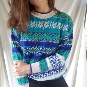 Vintage 80's Neon Funky Knit Sweater